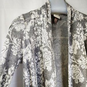 Knox Rose French Terry Floral Open Cardigan